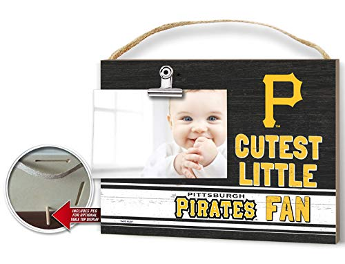KH Sports Fan Clip It Colored Baby Logo Photo Frame Pittsburgh Pirates (Picture Frame Pirates Pittsburgh)