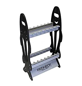 "Fishing Pole Vertical Floor Display Rack, 32"" x 17.5"" x 8"" Inch – Standing Storage Organizer for 16 Rods and Reels"