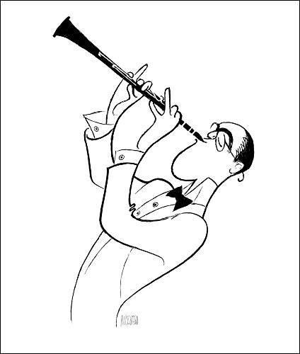 BENNY GOODMAN, Hand Signed by AL HIRSCHFELD, Limited Edition Lithograph