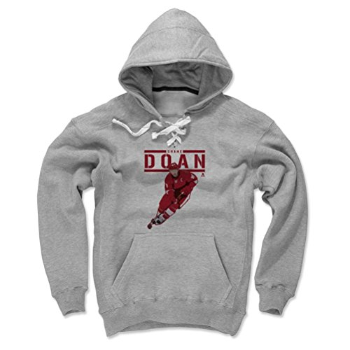 500 LEVEL's Shane Doan Play R Arizona Hockey Men's Lace Hoodie XL Gray Officially Licensed by the National Hockey League Players Association (NHLPA)