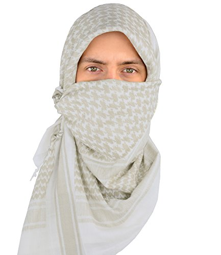 Military Wrap (Mato & Hash Military Shemagh Tactical 100% Cotton Scarf Head Wrap - Stone/Tan CA2100-2)