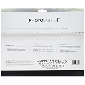 American Crafts 663025 We R Memory Keepers Photo Lights Backlit Film Paper Artists Lighting Equipment