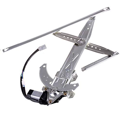 OCPTY Power Window Regulator with Motor Assembly Replacement Front Left Drivers Side Window Regulator fit for 1996-2000 Honda Civic 2 Door 72251SR3JOH 04727S00A00 741-737