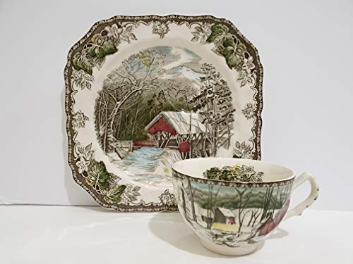 Johnson Brothers Friendly Village Snack Plate & Flat Cup Set