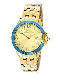 Porsamo Bleu Olivia Stainless Steel Gold Tone and Blue Women's Watch 982BOLS