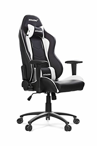 Akracing AK-5015 Nitro Ergonomic Series Racing Style Gaming Office Chair - Black/White