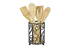 Home Basics Scroll Collection Cutlery Holder Organizer