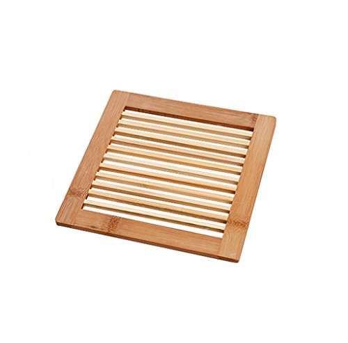 Morecome 1Pc Wooden Placemat Insulation Mats Coasters Table Coasters (Square)