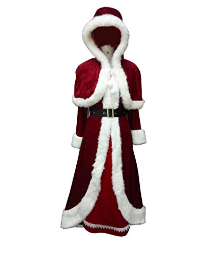Halloween Party Online Deluxe Mrs. Claus Costume, Adult (XL) HC-023 (Wig Mrs Deluxe Santa)
