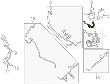 Power Steering Reservoir Line Hose Nissan 49717-7S000