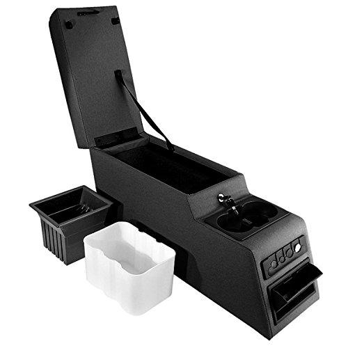 Center Console Locking - Rugged Ridge 13102.01 Ultimate Black Locking Center Console