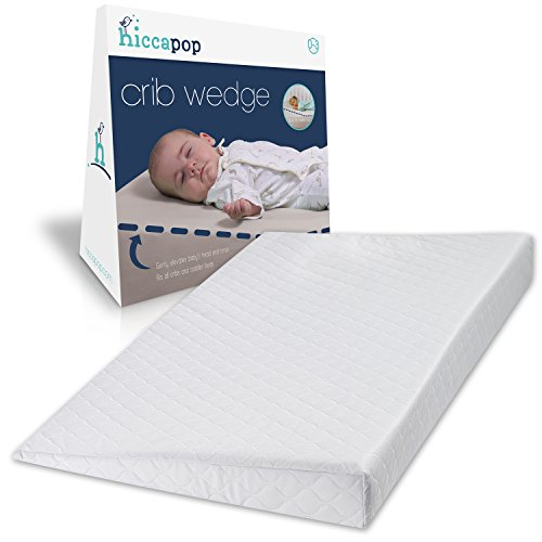 Pillow Crib (hiccapop FOLDABLE Safe Lift Universal Crib Wedge for Baby Mattress and Sleep)