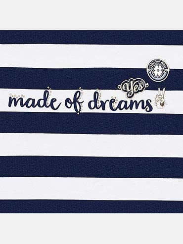 Mayoral 6024 Stripes s//s t-Shirt for Girls Navy