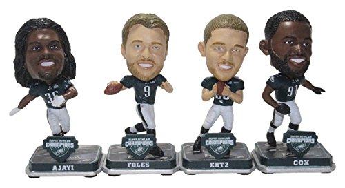 Forever Collectibles NFL Philadelphia Eagles Mens Philadelphia Eagles Bobble Mini Bighead 4 Pack (Foles Ajayi Ertz Cox) Super Bowl 52 Champs Special Order, Team Colors One Size