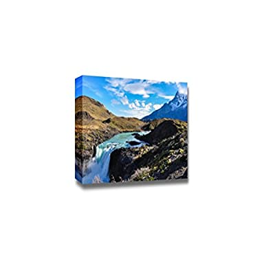 Beautiful Scenery Landscape Waterfalls in Parque Nacional Torres Del Paine Chile - Canvas Art Wall Art - 16