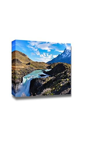 Beautiful Scenery Landscape Waterfalls in Parque Nacional Torres Del Paine Chile Wall Decor