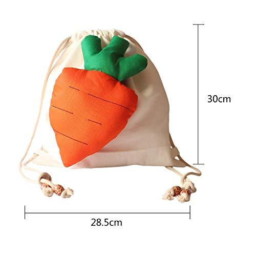 bianca Keng Zaino campeggio Pp ricamo carota di cotone modello Tela da borsa Zaino Uwq4qH7