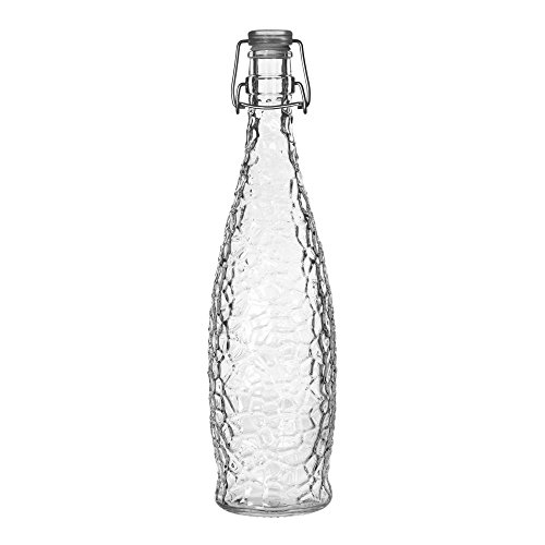 - Libbey 13150120 Glass 33.88 Ounce Glacier Bottle with Lid - 6 / CS