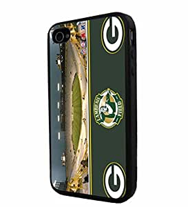 NFL Green Bay Packers Lambeau Field Stadium, Cool iPhone 4 / 4s Smartphone Case Cover Collector iphone TPU Rubber Case Black