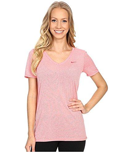 Nike V-neck Pullover (Nike Womens Legend Veneer V-Neck Dri-fit T-Shirt (Large))
