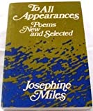 To All Appearances, Josephine Miles, 0252004434