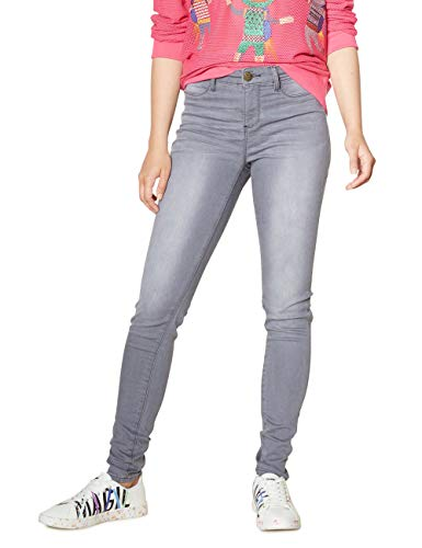 2060 Sky Grey Grigio Woman light Blue Jeans Donna Trouser Skinny Denim Long Desigual xzf7Pn