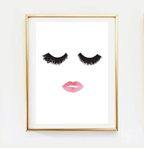Makeup print wall decor home decor wall art for Minimalist wall decor