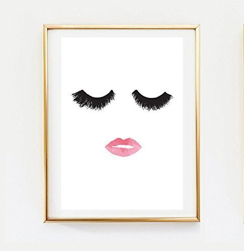 Makeup Print, Wall Decor, Home Decor, Wall Art, Minimalist Poster, Fashion Print, Glamour, Beauty