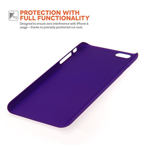 Yousave Accessories iPhone 6 Plus Hülle Violett Hart Hybride Schutzhülle Mit Mini Griffel Stift