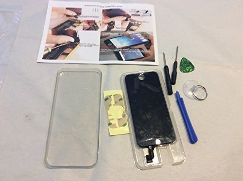 NewerStone Full LCD Display With Touch Screen Digitizer Assembly for iPhone 5S - Black - Toto Electronic