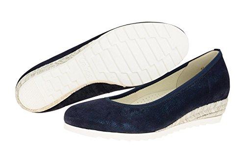 96 Oscuro Zapatos 641 62 Gabor mujer Piel Azul de de vestir para nWgEx