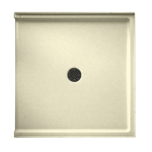 free shipping Swanstone R-38NEO-037  Shower Base with Center Drain, Bone