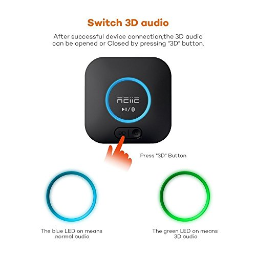 Bluetooth APT-X Hi-Fi Receiver and Audio Adapter, with 3D Surround and DSP, Low Latency for Home Music Stereo Streaming by REIIE by REIIE (Image #3)