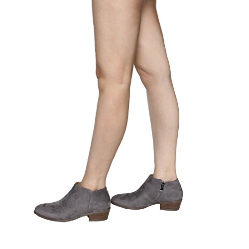 Suede Fashion Boots Ankle Toe Grey Beston Suede Closed Mugshot Womens zCnwqHU