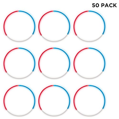 Windy City Novelties  Glow Stick Necklaces Red, White, Blue