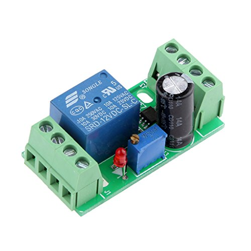 MagiDeal DC 12V Delay Relay Shield NE555 Timer Switch Adjustable Module 0-10 Second