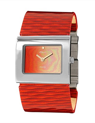 Moog Paris - Sand - Women's Watch with mirror gradual dial, red strap in Genuine leather, made in France - M41511-005