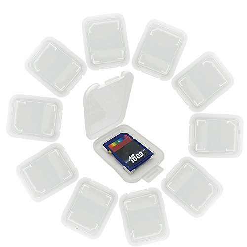 "20 Pack Memory Card Plastic Storage Case for SD MMC / SDHC PRO DUO (memory card not included) (1 3/8"" x 1 3/8"" x 1/4"")(PO0012 x 20)"