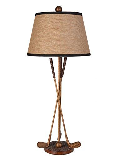 Golf Lamp - LampsPerSe LPS-140 Polyresin Golf Table Lampbronze Gold