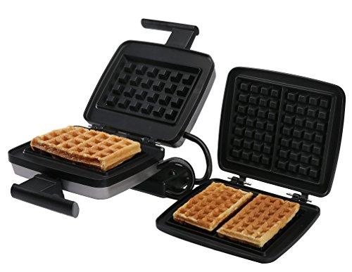Croquade Bundle Belgian Waffle Maker including Liège waffle plate, stuffed waffle plate and traditional US style waffles (U11002) by CROQUADE