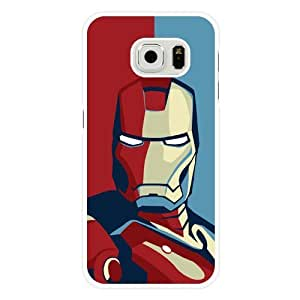 Samsung Galaxy S6 Case, Onelee Customized Marvel Comics Iron Man White Hard Plastic Case Only Fit For Samsung Galaxy S6