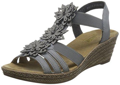 Rieker 62461-43, WoMen Heels Sandals Grey (Grey)