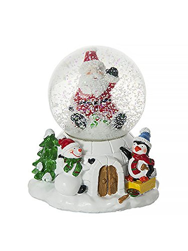(Musical Penguin Snowman Father Christmas Snow Globe Water Ball Decoration and Gift )