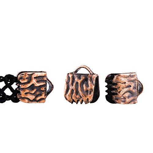 Twilight's Fancy 50pcs 6mm or 1/4 inch Antique Copper Ribbon Clamp End Crimps - Artisan Series
