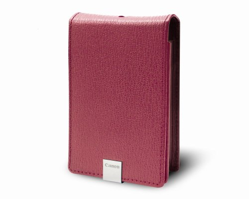 Canon PSC-1000 Deluxe Pink Leather Case for the Canon SD1000 and SD770IS Digital ()
