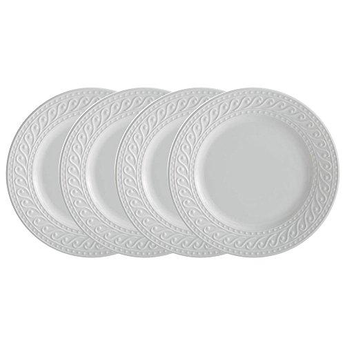 Pfaltzgraff Sylvia Dinner Plate (10-3/4, Set of 4), White