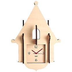 WOLF 333856 Jigsaw Cuckoo Clock, Natural
