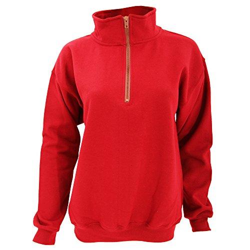 Gildan Adult Vintage 1/4 Zip Sweatshirt Top (XL) (Red) ()