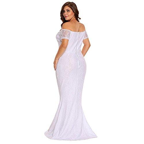 Vestidos Tallas Grandes Plus Ropa De Moda Para Mujer Sexys Casuales Largos De Fiesta y Noche Elegantes Blancos TG0040 VE0059 at Amazon Womens Clothing ...