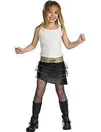 Girls Hannah Montana Qual Kids Child Fancy Dress Party Halloween Costume
